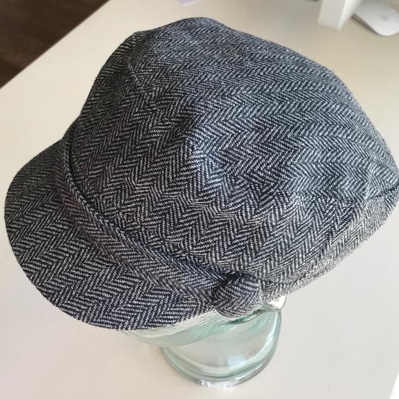20fea6f582d SAN DIEGO Hat Co. Gray Tweed Military Newsboy Cap
